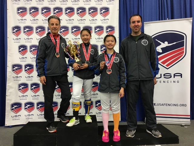 Erika and Alexandra (third place) with coaches.